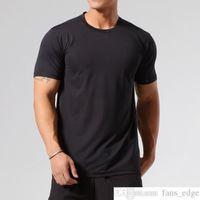 ASRV Spor Hızlı Kuruyan T-shirt Buz Ipek Koşu Ince T Kısa Kollu Sıkı Eğitim Atletik Giyim Erkek Adam Yüksek Elastik Ter Emici Su