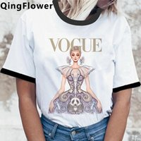 Women's T-Shirt Vogue Summer Top Tees Women Couple Clothes Plus Size White T Shirt Streetwear Tumblr Tshirt Harajuku