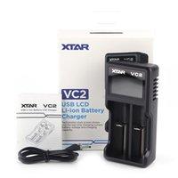 원래 XTAR VC2 CHAGER NIMH 배터리 충전기 배터리 충전기 LCD 18650 18350 26650 21700 리튬 이온 배터리 충전기