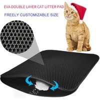 Cat Beds & Furniture Pet Double Layer Litter Mat Pads Trapping Pets Box Bed Cats House Clean Product Accessories