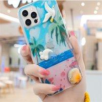 Shell Ocean Phone Case para iPhone 12 11 Pro Max mini x XS XR 8 7 Plus Starfish Crab Than Summer Caixa de telefone celular