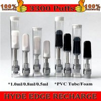 Th205 cartuchos vazios do vácdio e empacotamento do cigarro 0.5ml 1ml de vidro de cerâmico de vidro da caneta do óleo da caneta do óleo de cera do óleo do vaporizador 510 atomizador