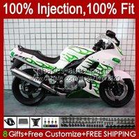Kawasaki Ninja ZZR400 ZZR600 그린 화이트 Blk 1993 1998 1999 07 84HC.174 ZZR 400 600 ZZR-400 2001 2002 2003 2004 2004 2005 2006 2007 페어링
