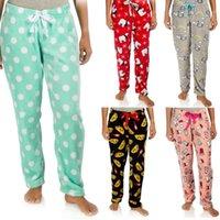 Women's Sleepwear Women Casual Home Wear Pants Elastic Waist Colorful Printed Pattern Long Trousers Pijama Sleeping Clothes Cotton