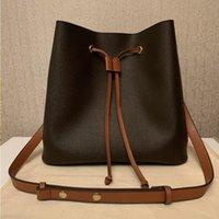 Кошелек дизайнерские сумки на ремне кручения кожаные ведро печать женские знаменитые сумки качества сумки высокий N40198 цветок Tote Crossbody B0QQ KQHKD