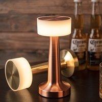 Vintage Bar Masa Lambaları Taşınabilir Pil LED Gece Işıkları Ücretli Masa Işık Fikstür Yatak Odası Başucu Lambası Restoran Dekor