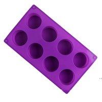 Форма для выпечки торта чашки в форме чашки Ручная мышь силиконовые формы восемь кругов льда кубик DIY инструмент не токсичный высокотемпературный сопротивление FWF6966