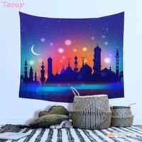 Taoup Eid Mubarak Tablecloth Ramadan Decor Islamic Table Cover Ramadan Kareem Accessories Ramadan Eid Tapestry Muslim Gift Party 200929