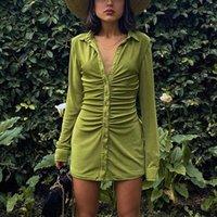 Robes décontractées Récupération de pile Design Flanel Contreplaqué Baldoyal pour femmes Engant Party Street Longues Bouche Mini Femme