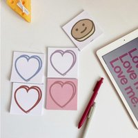 Card Holders Pink Heart Memo Pad Student's Messages Sticky Notes Kawaii School Supplies Korean Ins Decoration N Times Book