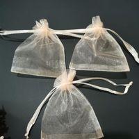 샴페인 쥬얼리 Drawstring 가방 Organza 선물 주머니 향신료 / 커피 크리스마스 / 웨딩 / 선물 포장 7x9 9x12 10x15cm 파우치,