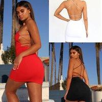 캐주얼 드레스 유럽과 미국 여성 플러스 사이즈 섹시한 붕대 솔리드 컬러 드레스 S / M / L / XL