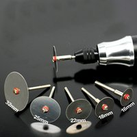 6pcs / set Disco da taglio a fetta in acciaio inox con 1 mandrino per dremel utensili rotanti 16 18 22 25 32 32 mm di taglio disco