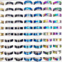 ファッション100ピース/ロットステンレススチールスピナーリングバンドチャームミックススタイル心配不安トラッキングムーンスターラブ女性男性フィンガーリングパーティージュエリーギフト