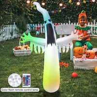 Hot Giant Halloween Inflatable Little Ghost Model Ghost Outdoor Led Luminous Display Props Horror Inflable Holloween Party Decor H0910