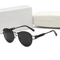 Verão de alta qualidade moda famosos óculos de sol senhoras designer polarizado sol óculos redondos tons homens sonnenbrillen com caixa
