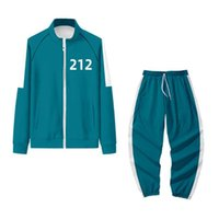 Newarrivals Gym Clothing Squid Game Men's Tracksuits Li Zhengjae Same Jacket 456 218 067 001 Casual Polyester Stand-up Collar