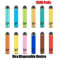 Xtra Disposable E-cigarette Device 1500 Puffs Powerful Battery 5ml Prefilled Cartridge Pod Vape Pen Kit Vs Puff Bar Plus XXL Flex
