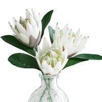 장식 꽃 화 환 3pcs 인공 가짜 실크 플라스틱 꽃꽂이 결혼식 테이블에 대 한 꽃다발 꽃병없이 꽃다발
