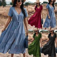 Women's Summer Casual Tshirt Dresses Short Sleeve Loose Dress