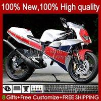Bodys Kit Yamaha TZR-250 화이트 레드 블루 TZR 250 TZR250 R RS 250 TZR250 R RS 250 TZR250 R RS RR 88-91 Bodywork 31NO.16 YPVS 3mA TZR250R 88 89 90 91 TZR250-R TZR250RR 1988 1989 1990 1991 Moto Fairings
