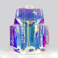Luxurys 디자이너 배낭 고품질 레이저 투명한 여행 토트 핸드백 패션 브랜드 핸드백 지갑 큰 크기