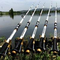 Caña de pescar Spinning Fly Fooder Fibra de carbono Pesca Carpa Cañas de pesca AlimentanteHard FRP Palle Pesca Telescópica