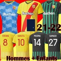 21 22 maillot RC Lens MAILLOT football Gradit FORTES CAHUZAC PEREZ 2021 2022 Lens de football Chemises MAURICIO Kits KAKUTA de pied maillot manches courtes