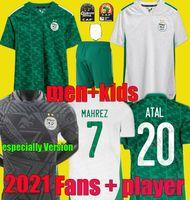 المشجعين لاعب خاصة الإصدار 2021 2022 الجزائر لكرة القدم الفانيلة 21 22 مايوه دي القدم محمي فغولي بن ناصر الجزائر الرجال أطفال أطقم كرة القدم قميص