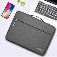 WiWU Waterproof Laptop Sleeve for MacBook Air 13 A2337 M1 Chip Simple Handle Laptop Bag Case for MacBook Pro 13 A2338 210325