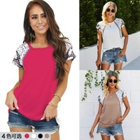2021 Summer Fashion Mosaic Leopard Print T-shirt for Women Tx211s3136