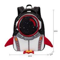 2021 New 3D Rocket Kids Backpack Anti-lost Astronauts School Bags Waterproof Cartoon Girls Backpack Mochila Infantil
