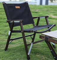 Outdoor-Klappstuhl Holz Buchen Relax Fishing Tragable Faltbare Camping Picknick Zubehör