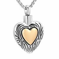 펜던트 목걸이 골드 컬러 심장 목걸이 URN 기념관은 스테인레스 스틸 화장 쥬얼리를 유지합니다.