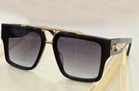 1009 مربع النظارات الشمسية الذهب الأسود الإطار رمادي مظللة مصمم نظارات للرجال النساء sonnenbrille uv حماية أزياء نظارات الشمس مع مربع