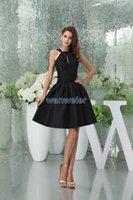 Bridesmaid Dress 2021 Design Brides Maid Gown Custom Size color Short Black Sexy Clubbing Ladies Halter Dresses