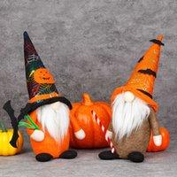 Halloween Kürbis Rudolph Home Party Tischdekoration Zwerg Puppe Flanell Tuch Fachlose Puppen Ghost Festival Kobold Plüsch Handgemachte Gnome Puppen Verkauf G7480GC