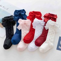 2021 Autumn Winter Baby Grils Cute Bow Socks Fashion Kids Princess Middle Tube Socks 0-3 Years Old Dress Socks Party Christmas Candy Colors Stockings G9838UQ