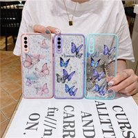 Bling cell Phone Case for 12 mini 11 pro max Butterfly Giltter cover iphone xr 8 7 plus shell A71 A42 A52 A72 S30