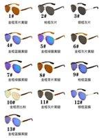 Verano Nuevo Hombre Hombre Polarizado Metal Gafas de sol Mujer Tac Ciclismo Deporte Sol GLA SSES Conducción Redonda Outdoor Playa Lentes Surf Gafas con un marco medio