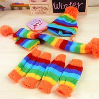Dog Apparel Pet Clothes In Winter To Keep Warm Three-piece Hat Elbow Scarves Teddy Bear Autumn