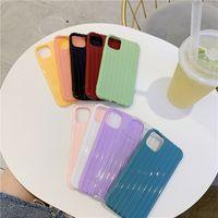 Caixas de telefone celular de bagagem listrada para iPhone 12 Pro Max Mini 11 TPU Material Suave Caso protetor anti-queda
