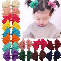 Fashionable Baby Girl Grosgrain Ribbon Hair Accessories Children Kids Bowknot Bows With Alligator Clip Hairpin Headwear Ties