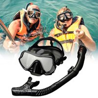 Diving Masks Premium Snorkel Set For Adult With Mouthpieces Masque Goggles Large Frame Silicone Mask Men And Women