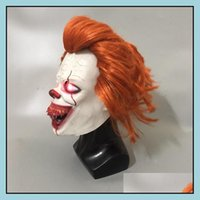 Festive Supplies Home & Gardenhigh Quality Fl Head Latex Mask Horror Movie Stephen Kings It 2 Cosplay Pennywise Clown Joker Led Masks With H