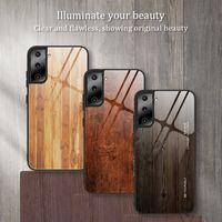 Телефонные чехлы Деревянные зерновое стекло для iPhone 12 11 Pro Promax X XS MAX 7 8 плюс Samsung S21 S20 NOTE20 NOTE10