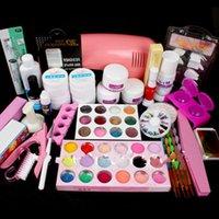 Manicure Set Acrylic Nail Art Salon Supplies Kit Tool with UV Lamp UV Gel Nail Polish DIY Makeup Full Set