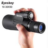 تلسكوب مناظير Eyskey HD أحادي 10-30x50 Zoom عالية الطاقة السياحة قناص Bak4 للماء LLL للرؤية الليلية للصيد