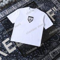 21ss Erkekler Baskılı T Shirt Polos Tasarımcı Makas Mektuplar Paris Giysi Kısa Kollu Erkek Gömlek Etiketi Beyaz Siyah 05