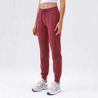 Yoga Outfits Женская талия на русском Учебные брюки для йоги Брюки с карманами Стрижка для спортивных штангой спортивные брюки для спортивных брюков